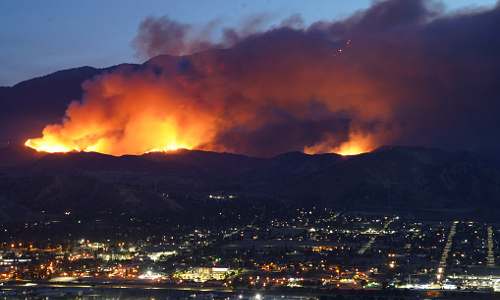 Part of the 2020 California wildfire.